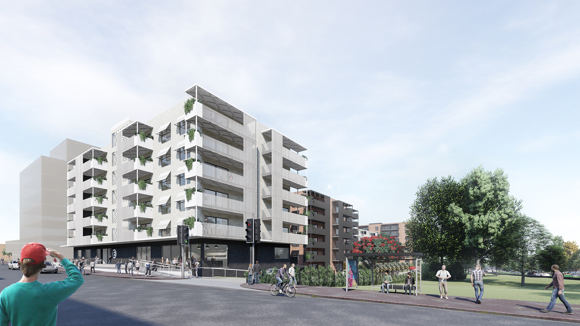 Highbury Triangle Render Great North Road   Looking S