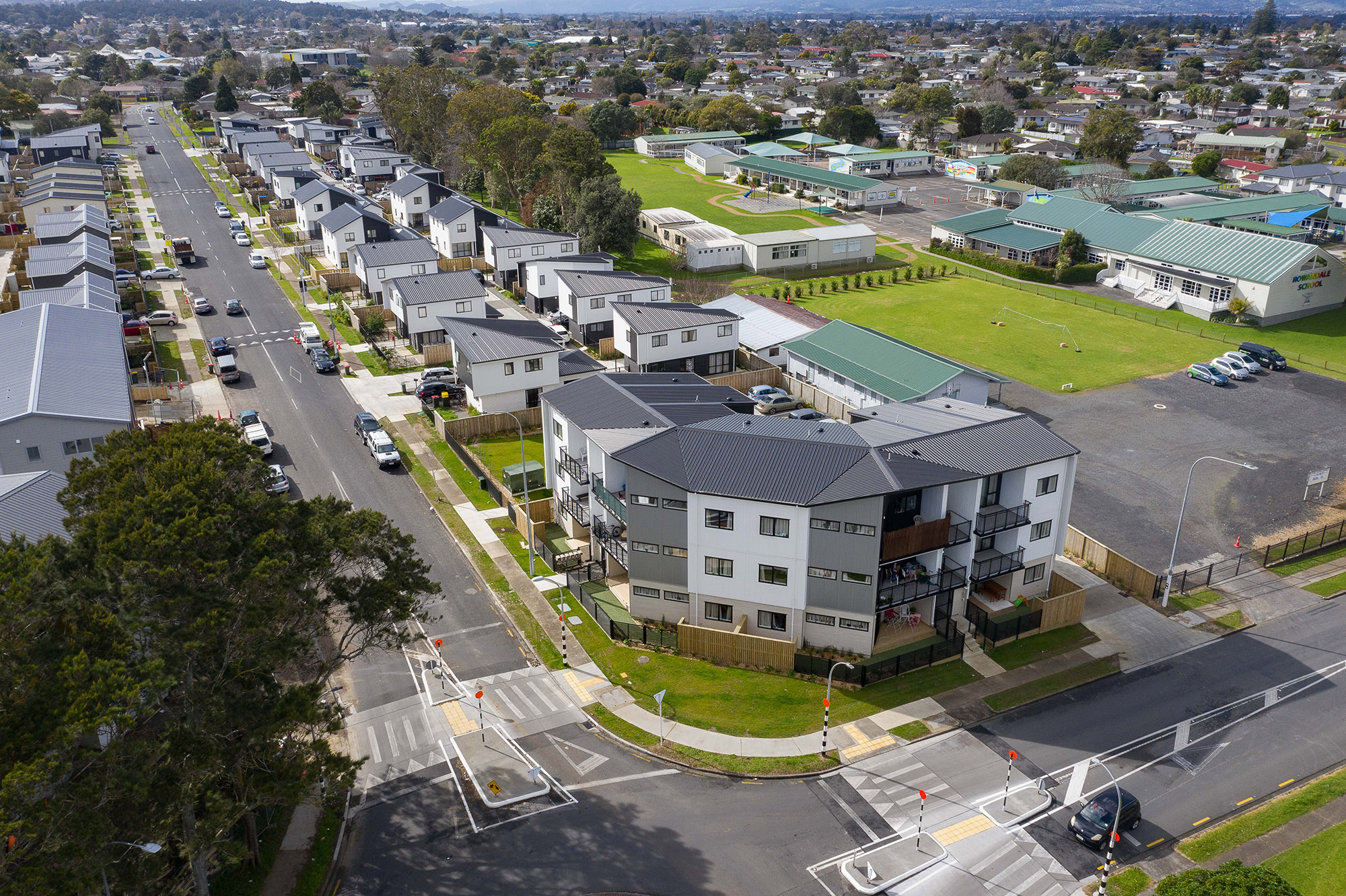 Wordsworth Rd and Awakino Pl aerial completed