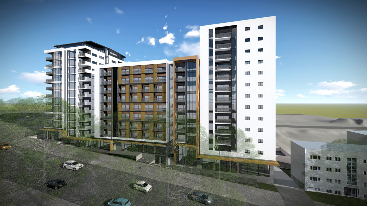 Render of roadside view of 139 Greys Ave