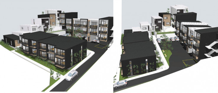 Architect's render after development completed