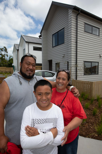 As part of our Roskill Development project, Fau Sau Faalii and his family were relocated into a brand new, warm, dry home in their community.
